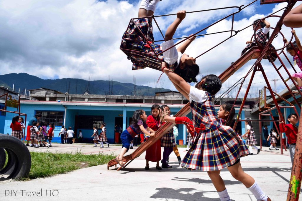 Nebaj School Children Playing During Recess