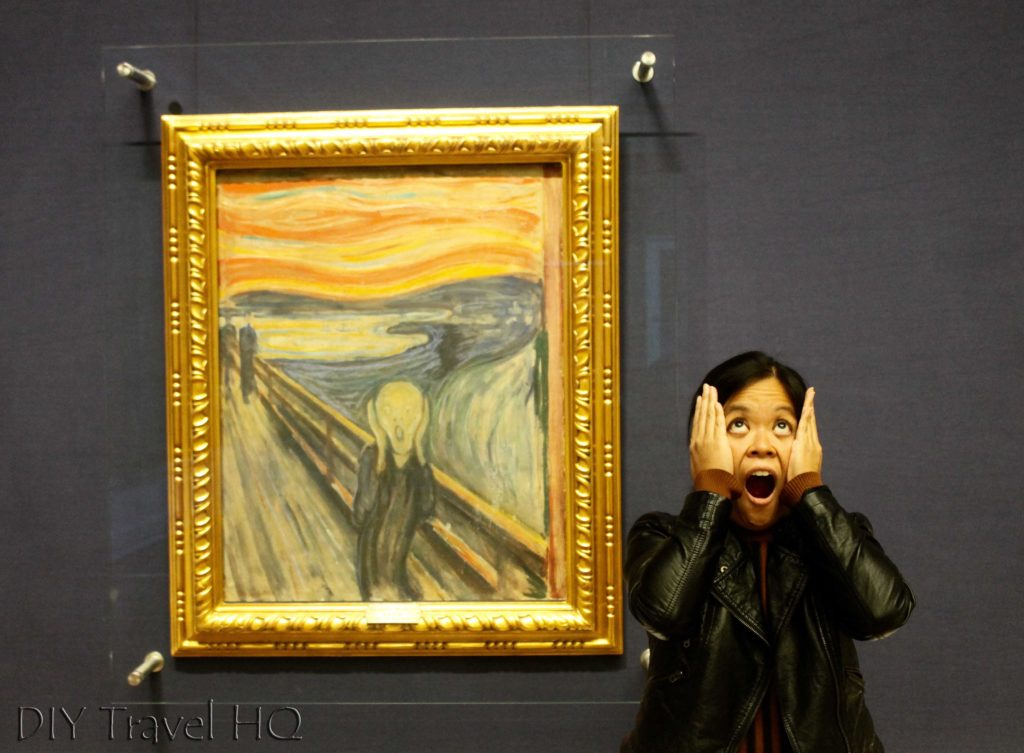 Me with The Scream in Oslo