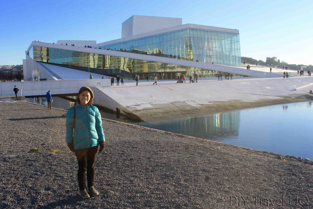 Me at Oslo Opera House