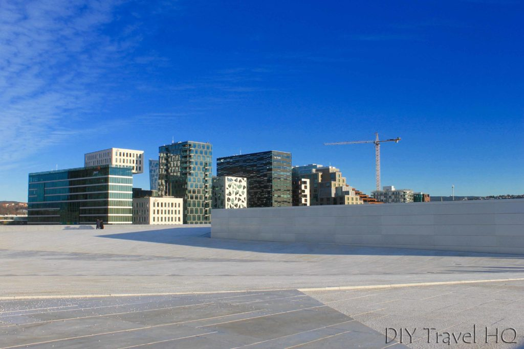 White carpet roof at Oslo Opera House
