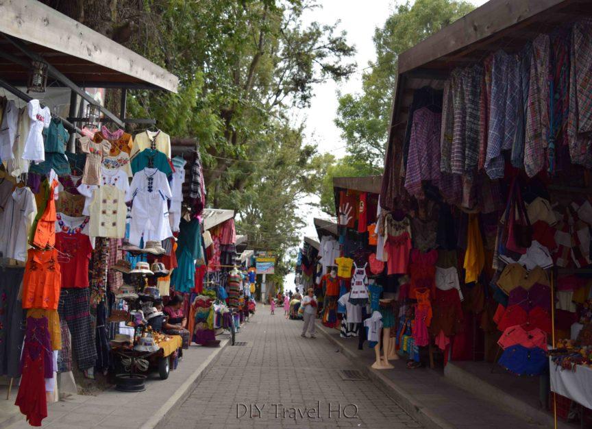Panajachel Tourist Vendors Near Lake Atitlan