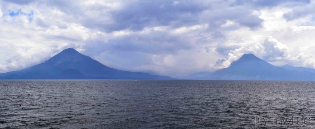 Panajachel View of Lake Atitlan and Volcanoes from Pier