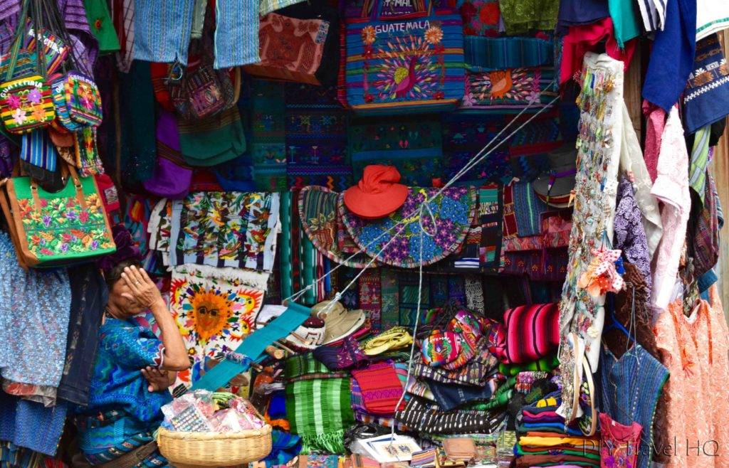 Panajachel Weaving Vendor