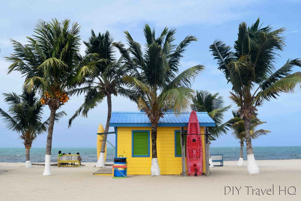 Beach hut on Placencia Beach
