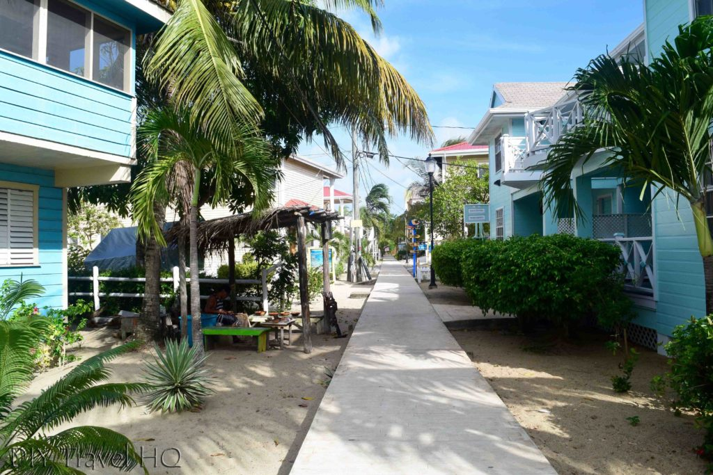 """Sidewalk"" in Placencia"