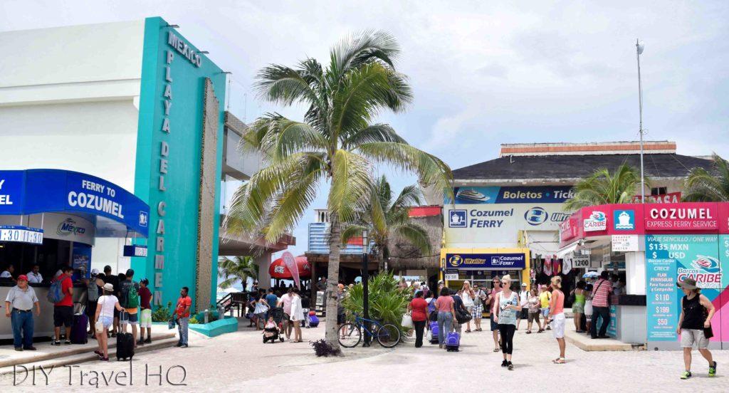 Ferry terminal at Playa del Carmen