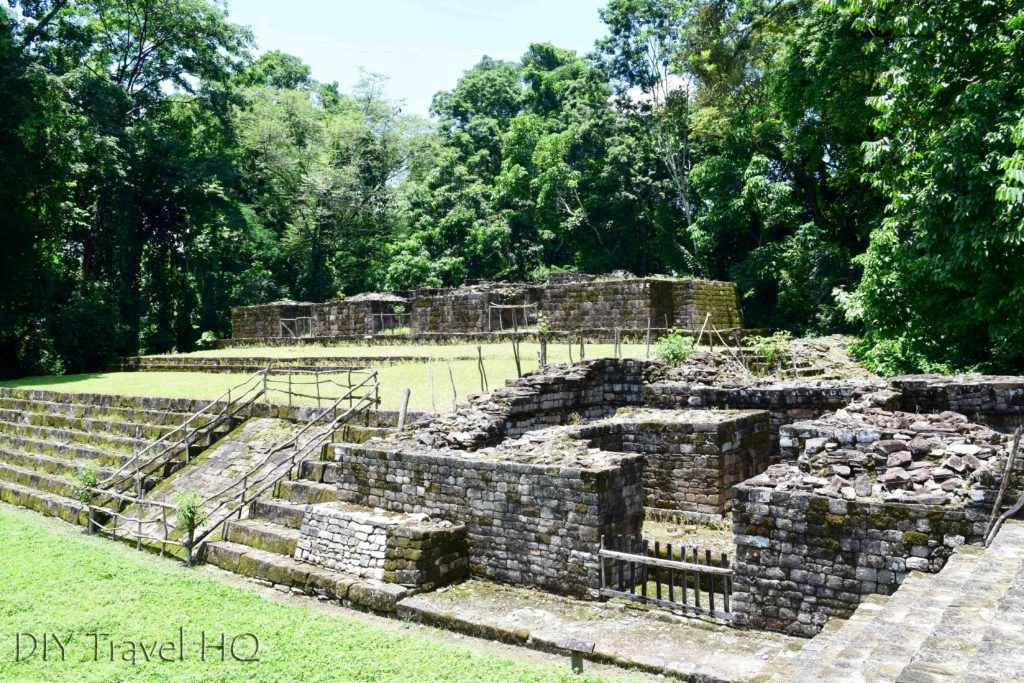 Quirigua Acropolis Partially Restored Building