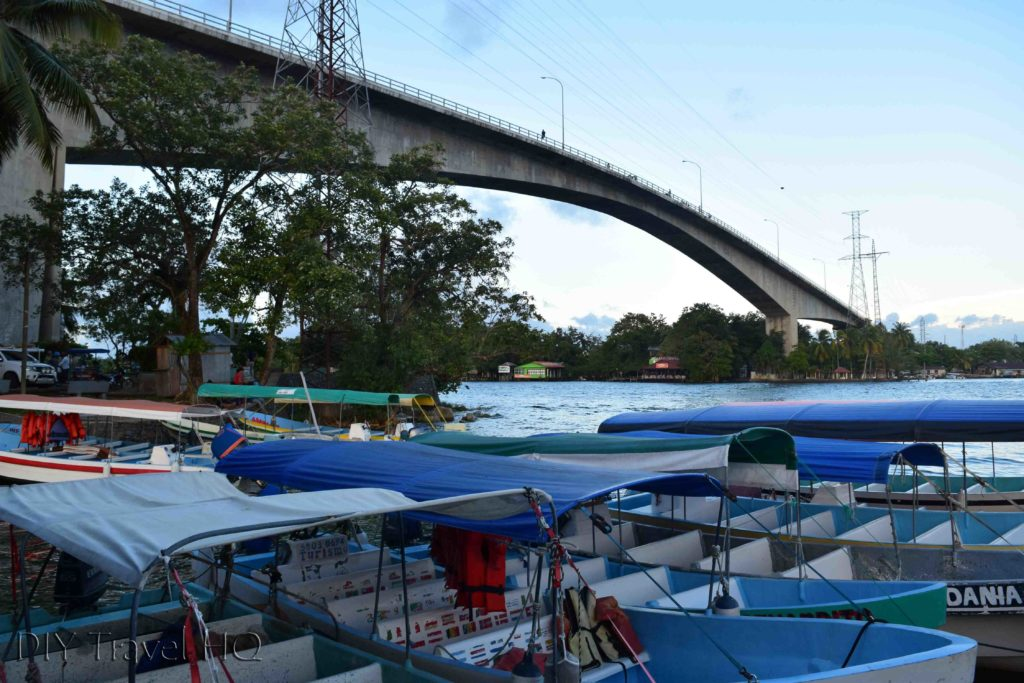 Rio Dulce Town Boat Dock & Bridge