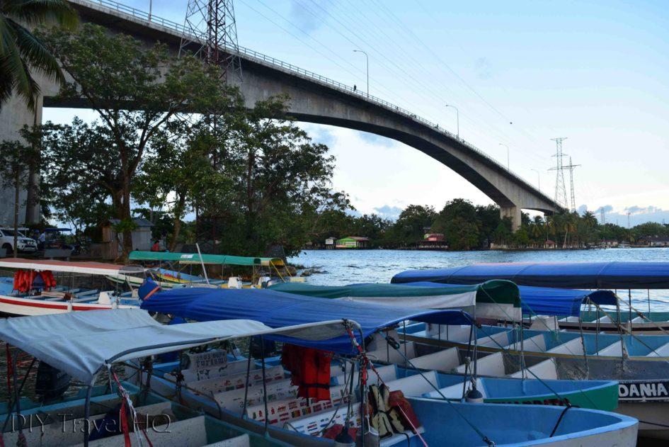 Rio Dulce Town Boat Dock & Bridge