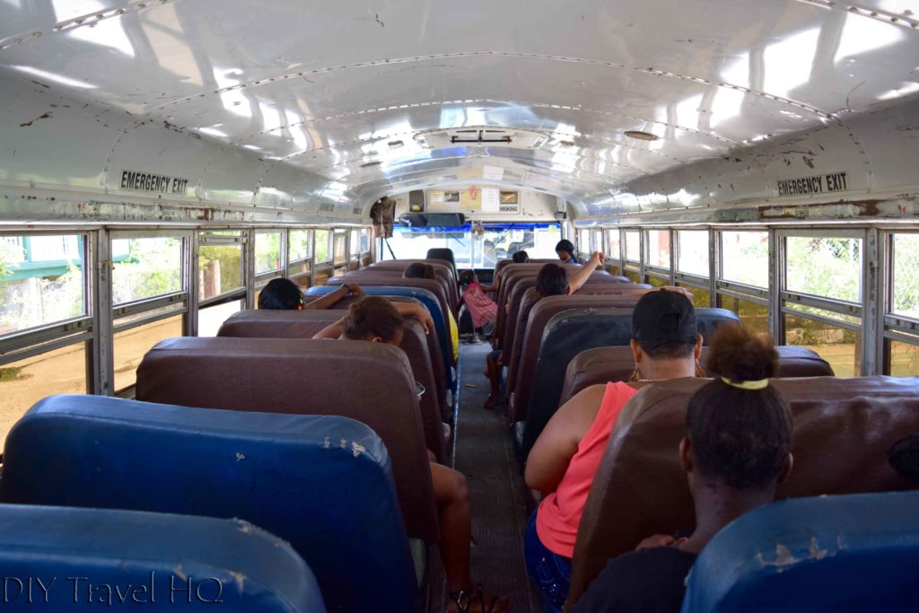 Chicken bus to San Ignacio