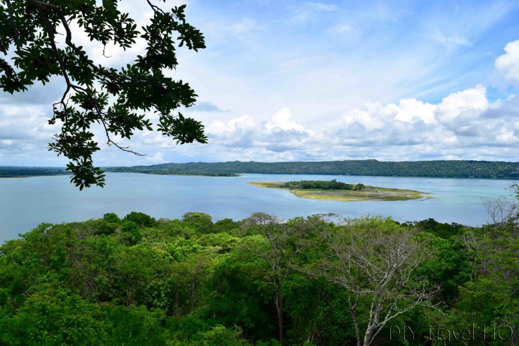 San Miguel Lookout Tower View of Peten Itza Lake