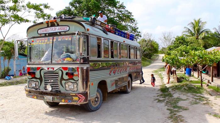 Santa Elena to Carmelita Chicken Bus