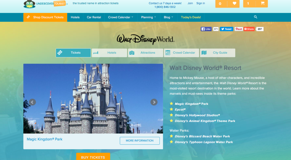 Screenshot of Undercover Tourist website