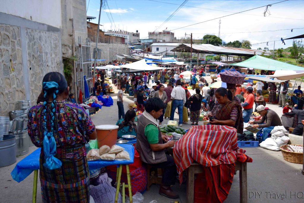 Solola Market Overflowing to Streets