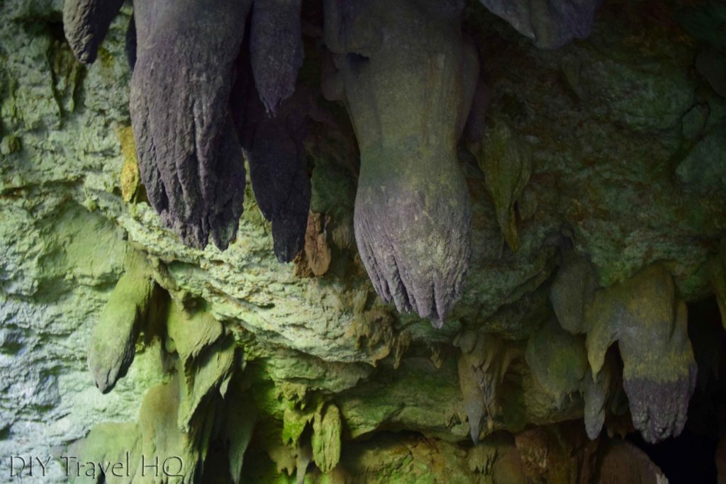 Formations at St Hermans Cave