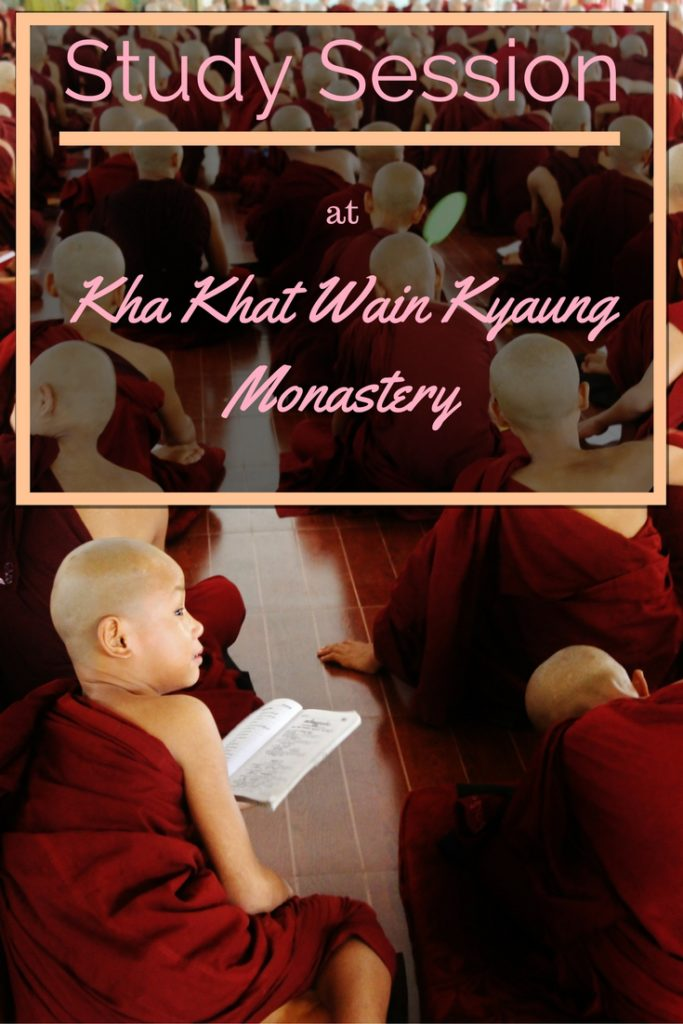 Study Session at Kha Khat Wain Kyaung Monastery