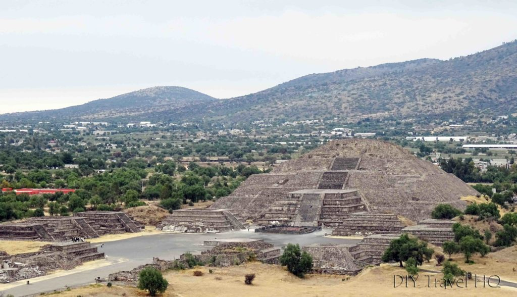 Teotihuacan Temple of the Moon from Temple of the Sun