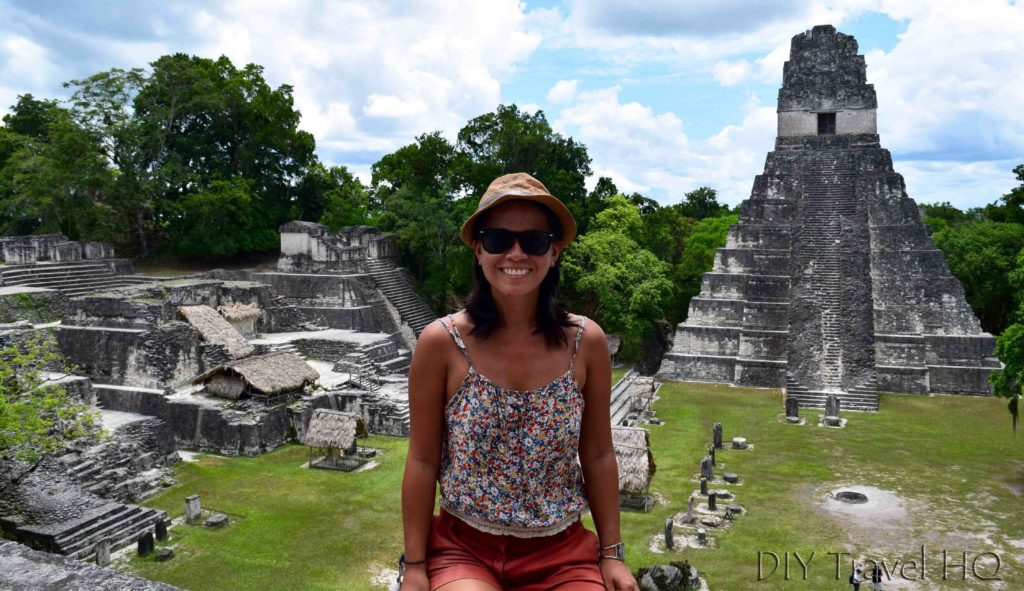 Tikal Ruins Grand Plaza with Sheena