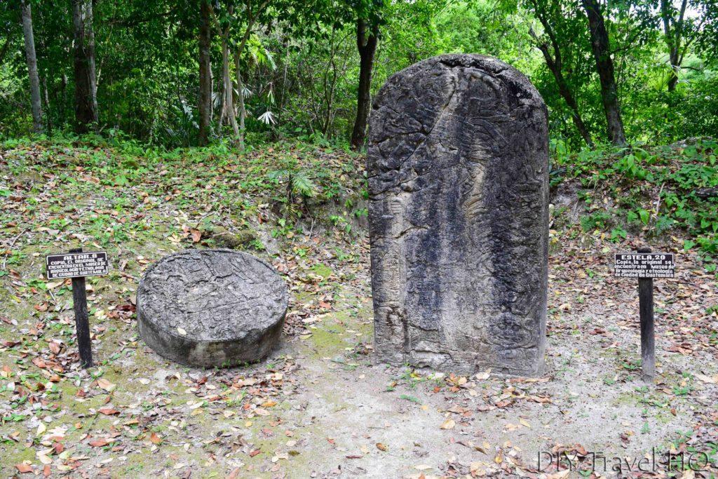 Tikal North Zone Altar 8 and Stela 20