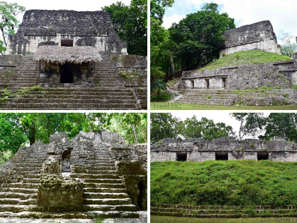 Tikal Ruins Plaza of the 7 Temples Collage