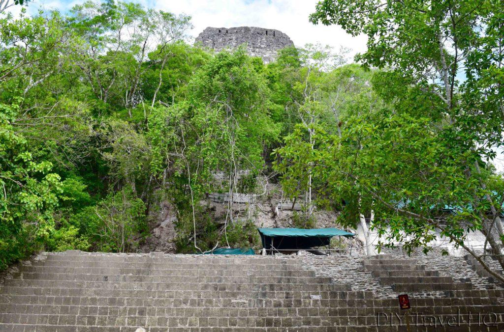 Tikal Temple IV Under Restoration
