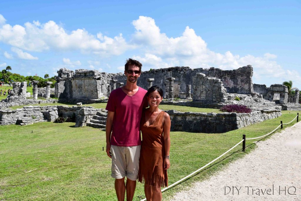 Us at Tulum Ruins