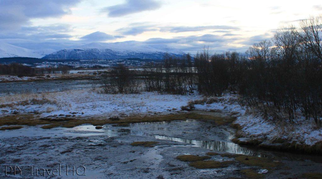 Tromso landscape in winter