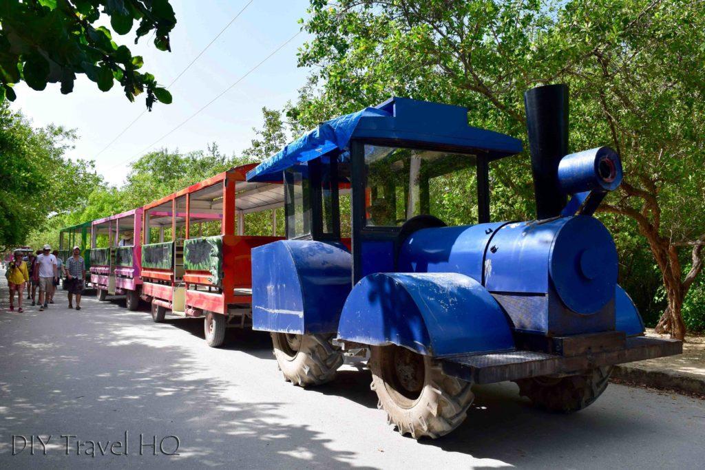 Tulum ruins toy train
