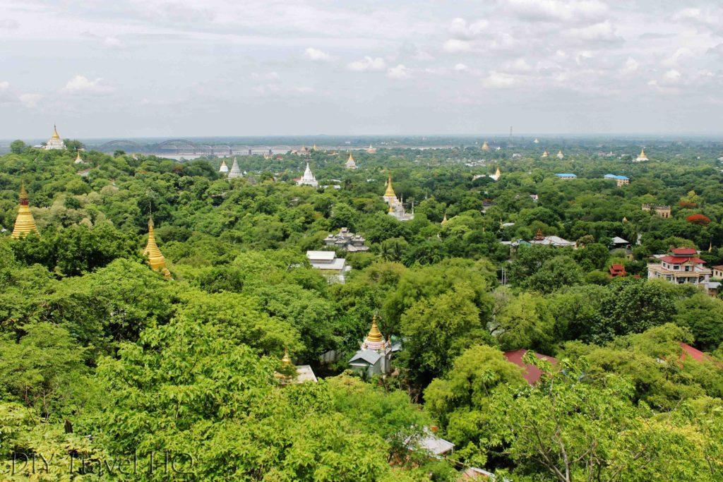Sagaing Hill landscape