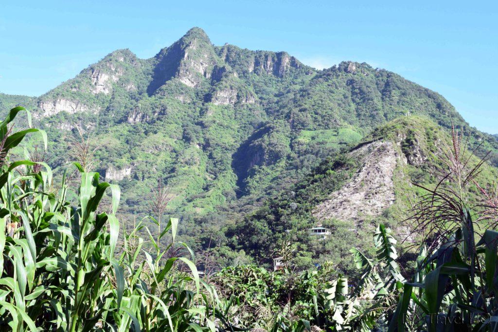 View of Indian Nose and Cruz Lookout from San Juan La Laguna