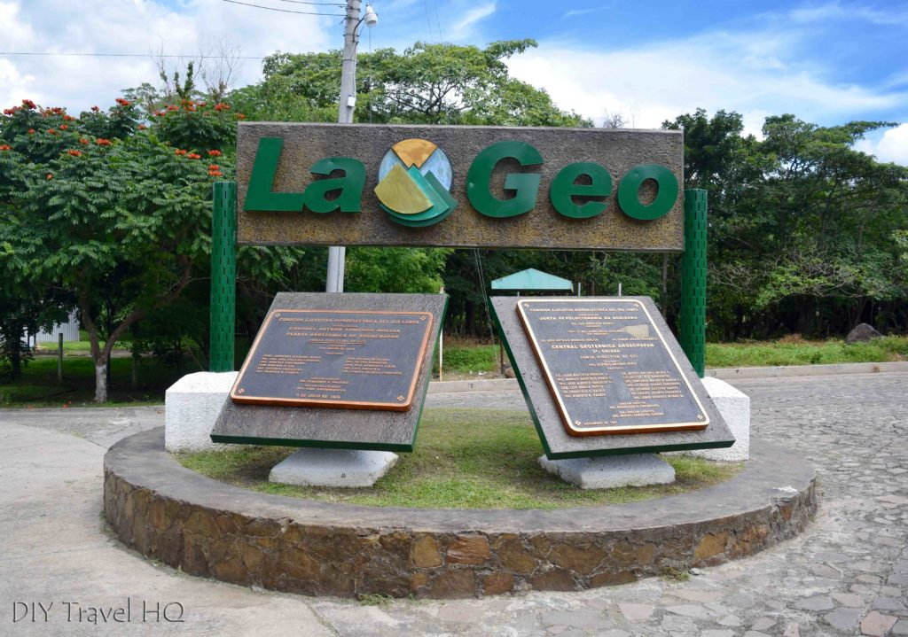Ahuachapan La Geo Sign Bus Stop for Los Ausoles