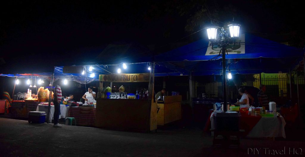 Ahuachapan Parque Concordia Night Food Stalls