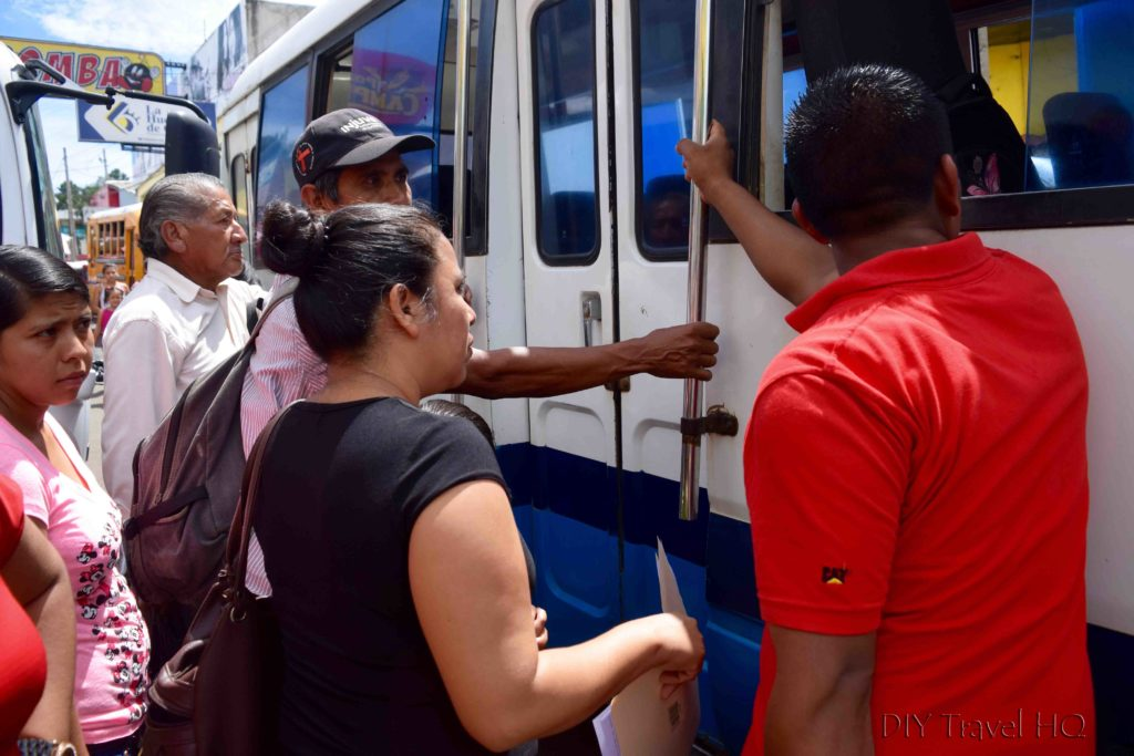 Ahuachapan Trying to Get on Locked Bus