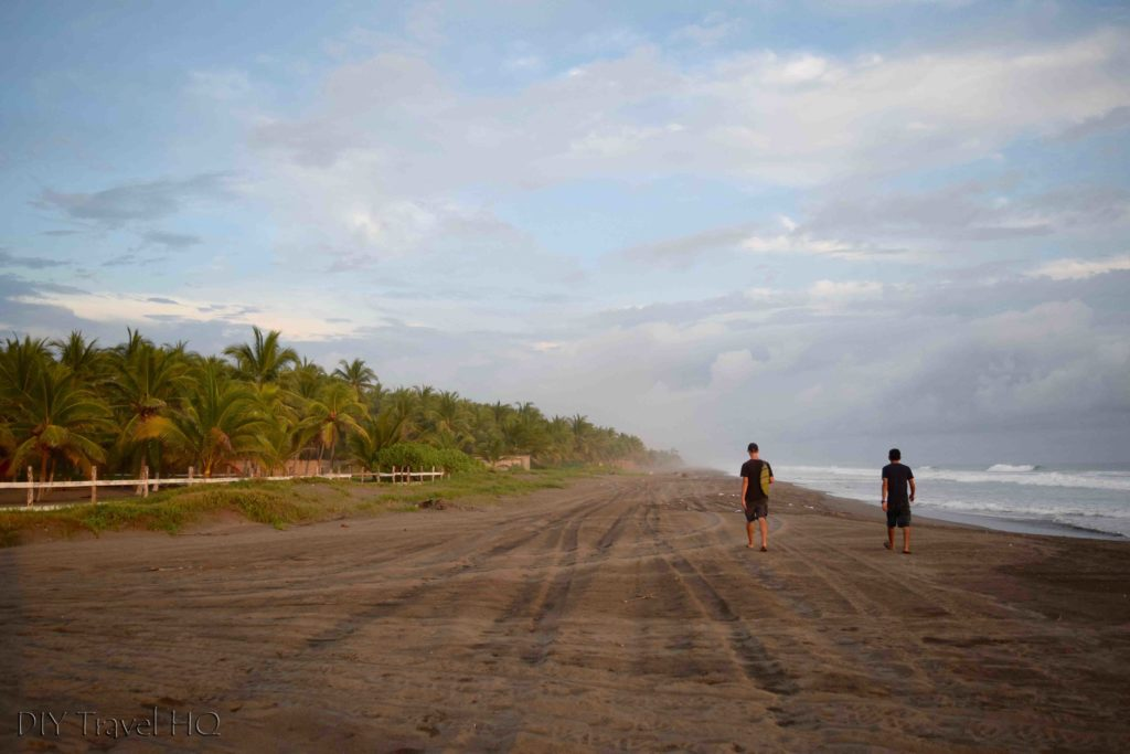 Deserted beach at Barra de Santiago
