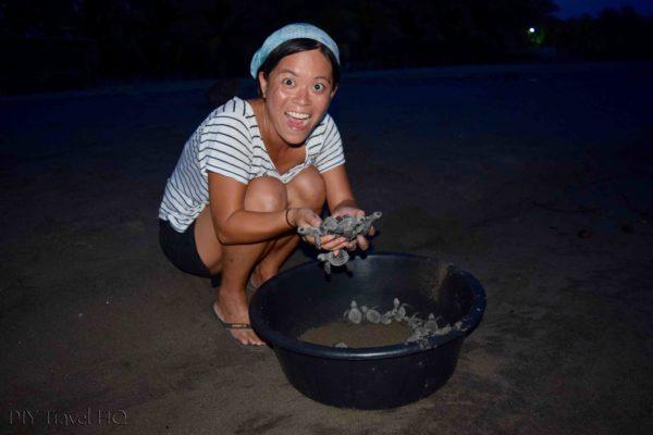 Releasing Turtles Barra de Santiago