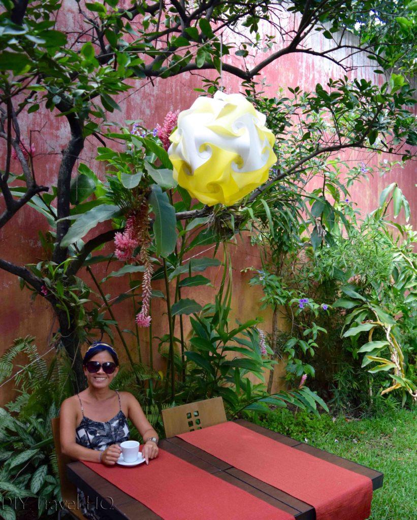 Casa Frolaz garden restaurant