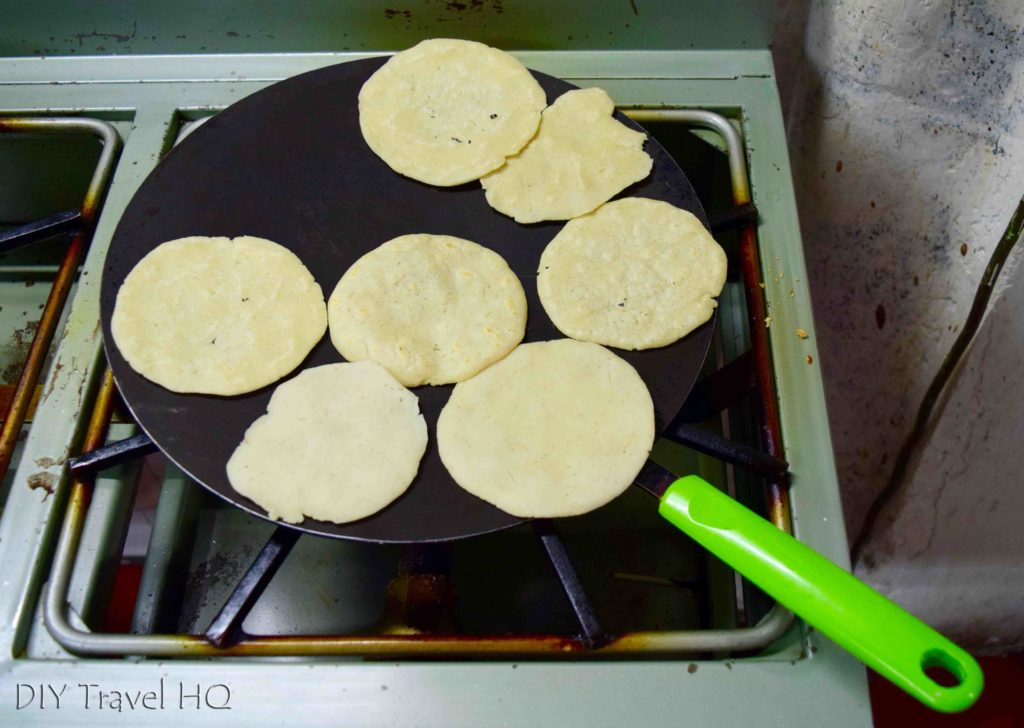 Handmade tortillas on