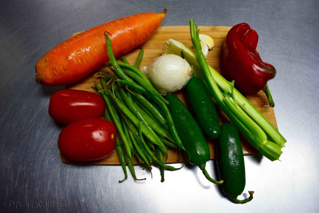 Vegetables to make Chile Rellenos