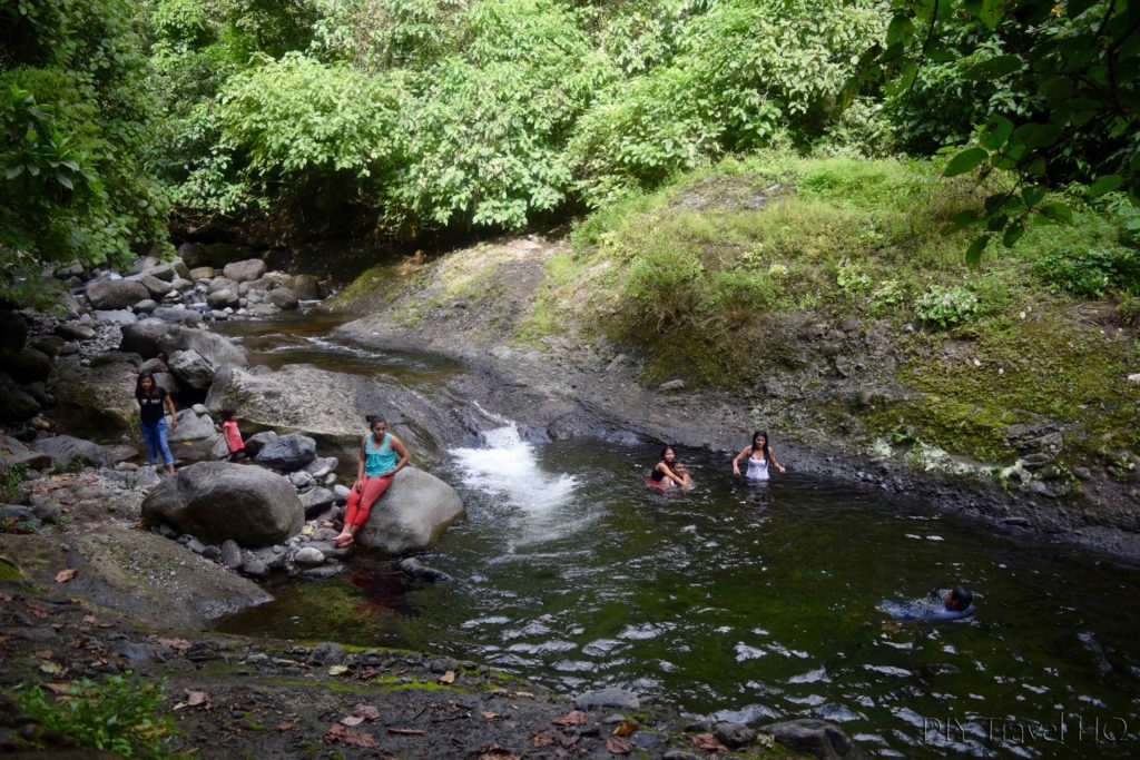 El Imposible National Park El Salvador Locals Swimming in Full Clothes