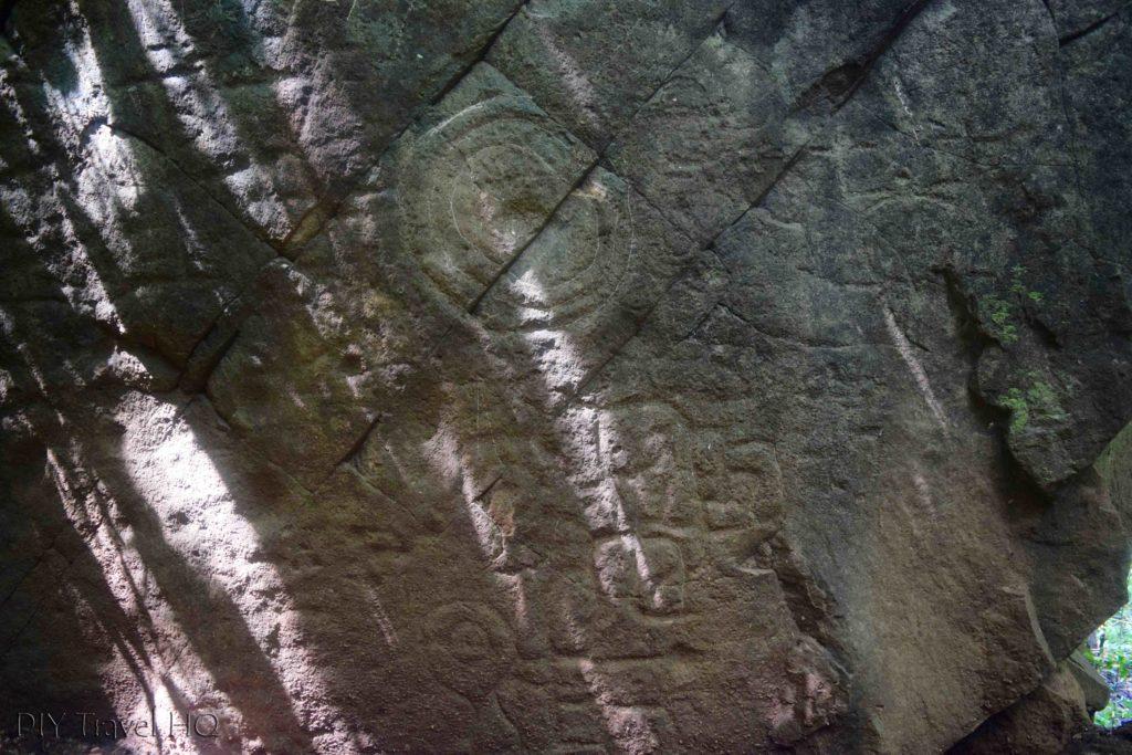 El Imposible National Park Piedra Sellada Mayan Etchings