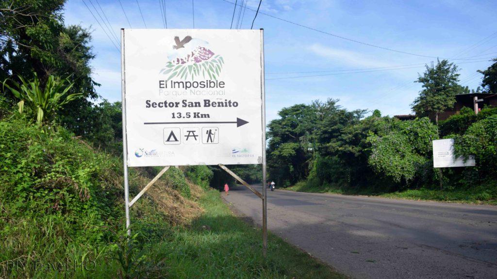 El Imposible National Park San Benito Turn-Off
