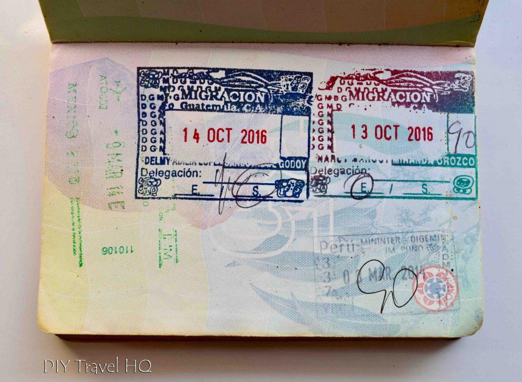 CA-4 visa stamp passport
