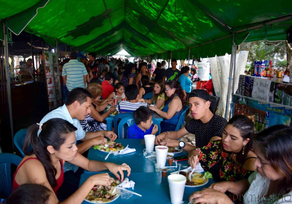 Juayua Food Fair Dining Under Tent