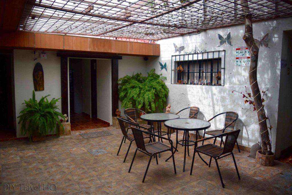 Inside Patio at La Casa de Mamapan