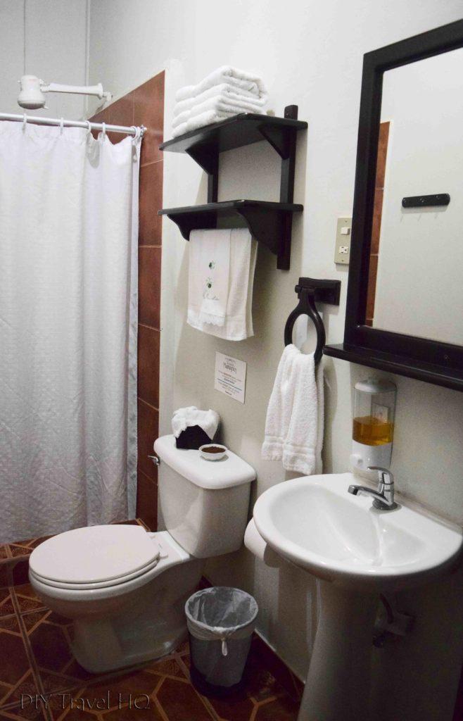 Clean bathroom at hotel