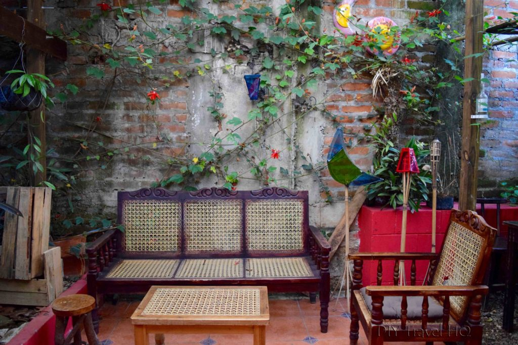Indoor courtyard at Los Portones de Ataco