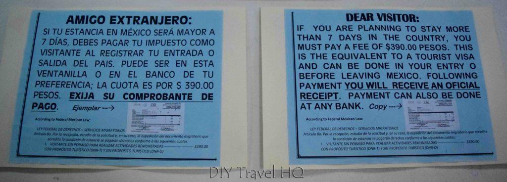 Mexico Exit Tax 390 Pesos