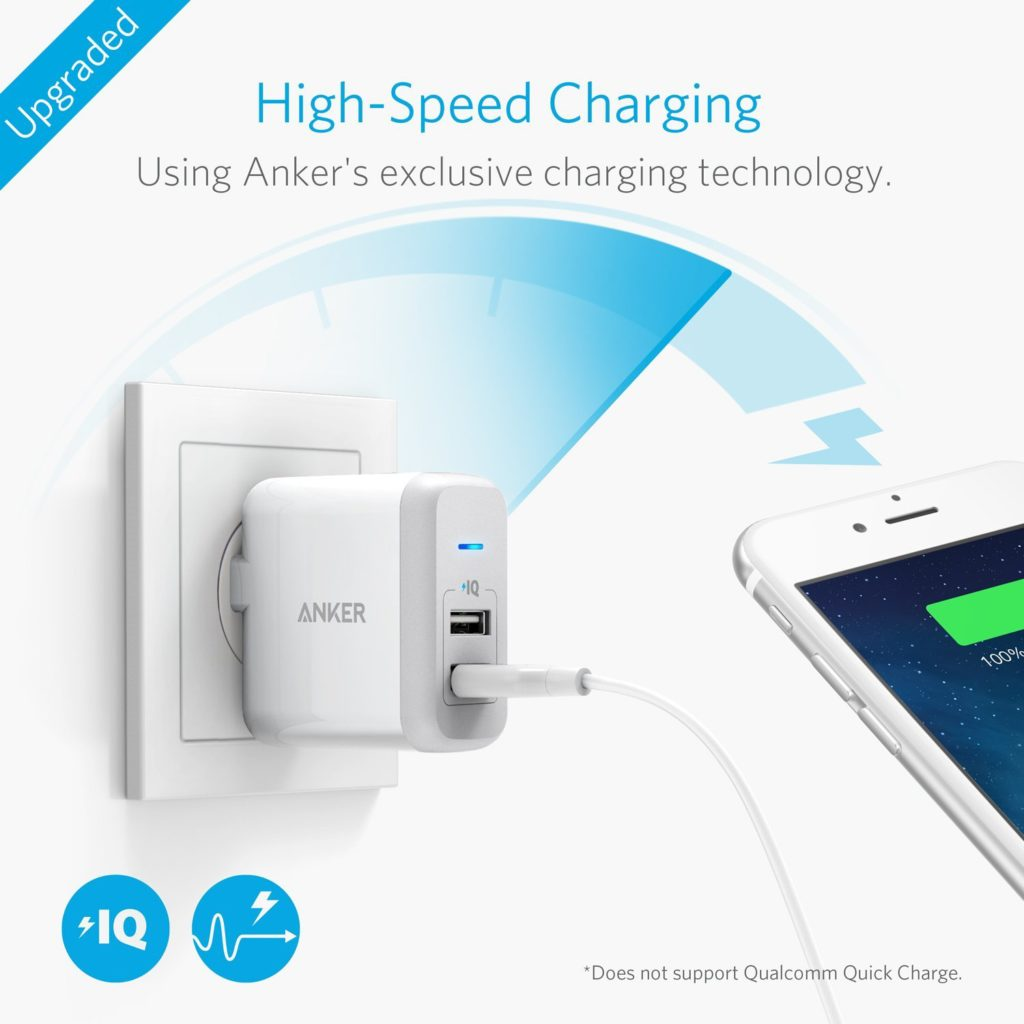 Anker 24W Dual USB Wall Charger
