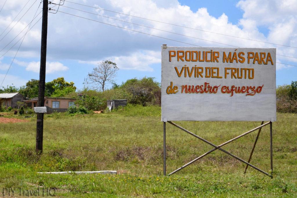 Vinales Propaganda Sign