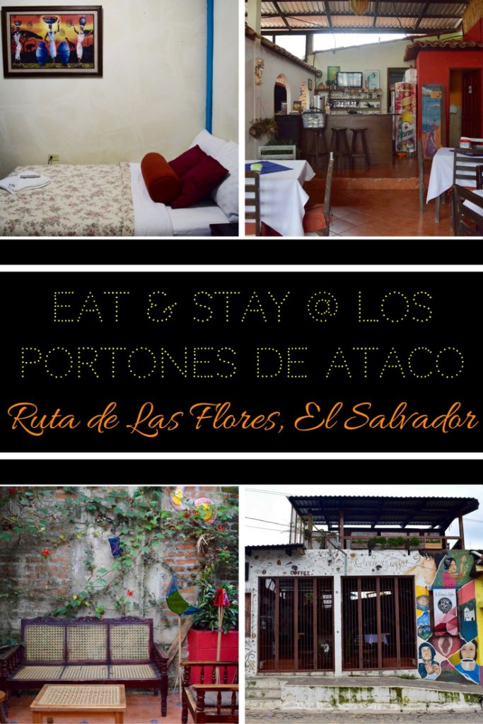 Eat, drink, sleep & be merry at Los Portones de Ataco, a cafe-hotel located on the Ruta de las Flores. Whether you're a tourist or local, Ataco is a lovely place to spend the weekend. It's at the start of the Ruta de las Flores, El Salvador's Flower Route. From Ataco, you can easily visit all the attractions of the region, by car or bus. Find out why Los Portones de Ataco is the perfect hub for exploring this beautiful region of El Salvador.